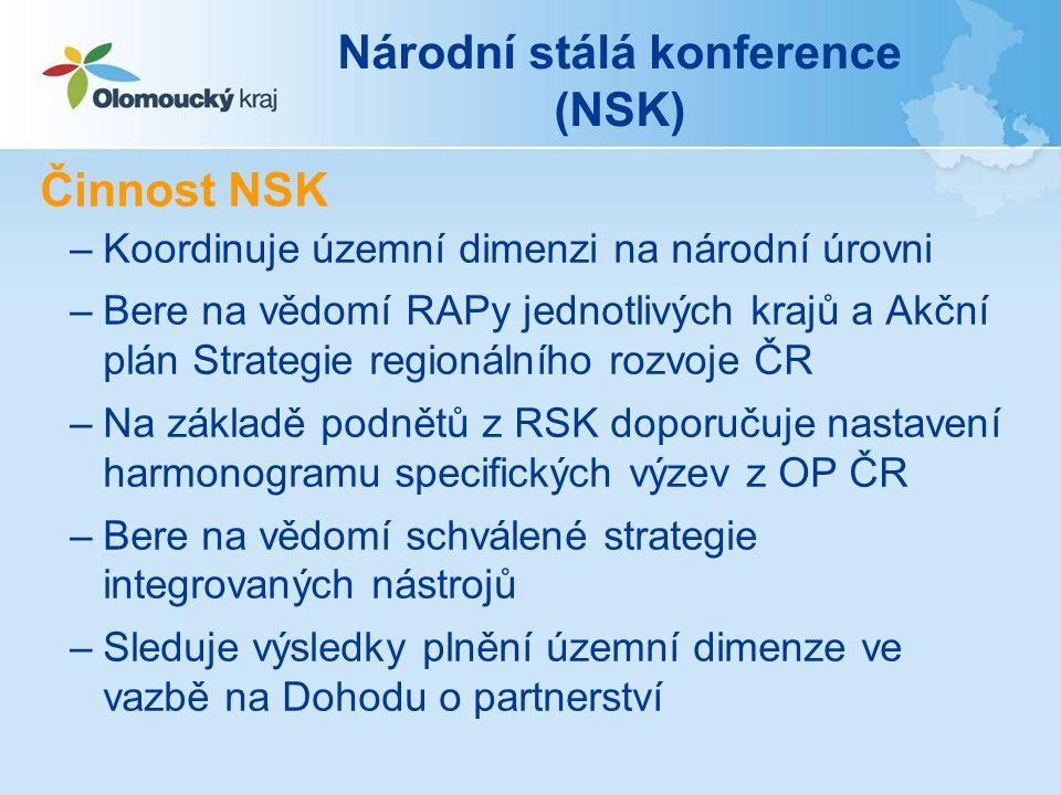 Národní stálá konference (NSK) Zasedání NSK –1.zasedání NSK – 23.