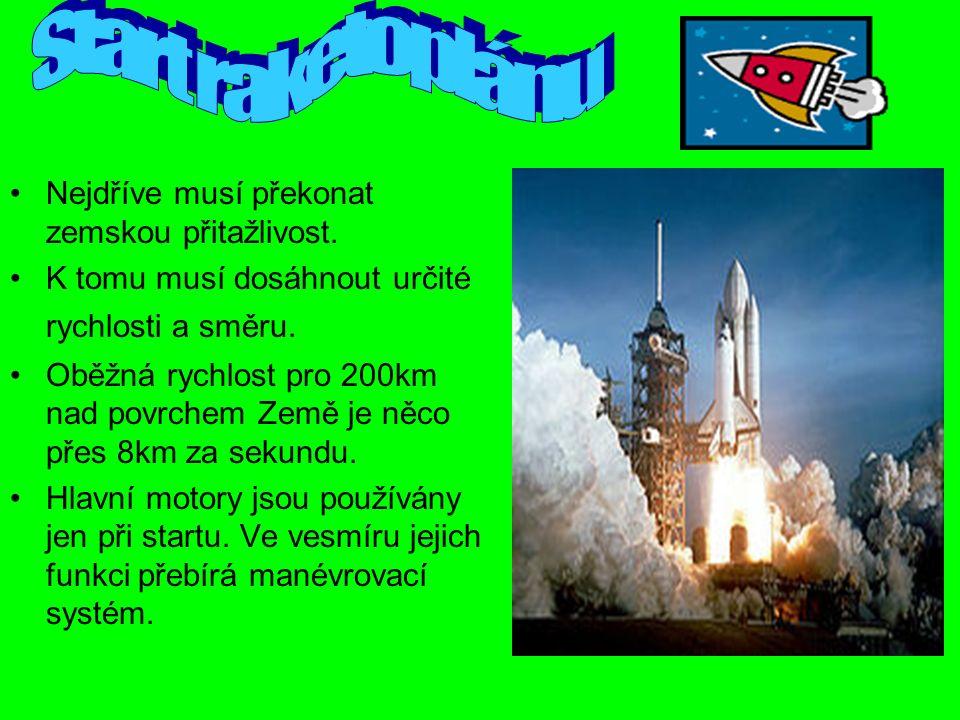 Raketoplán se skládá z orbitální části s třemi hlavními motory,vnější palivové nádrže a dvou nosných raket na pevné palivo.