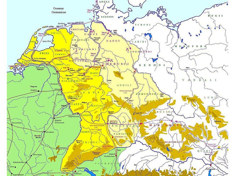 Samostatná vláda 14-37 Vzpoura legií na Rýně Germanikova role Tažení z let 14-16 (protofranské kmeny, Chattové.