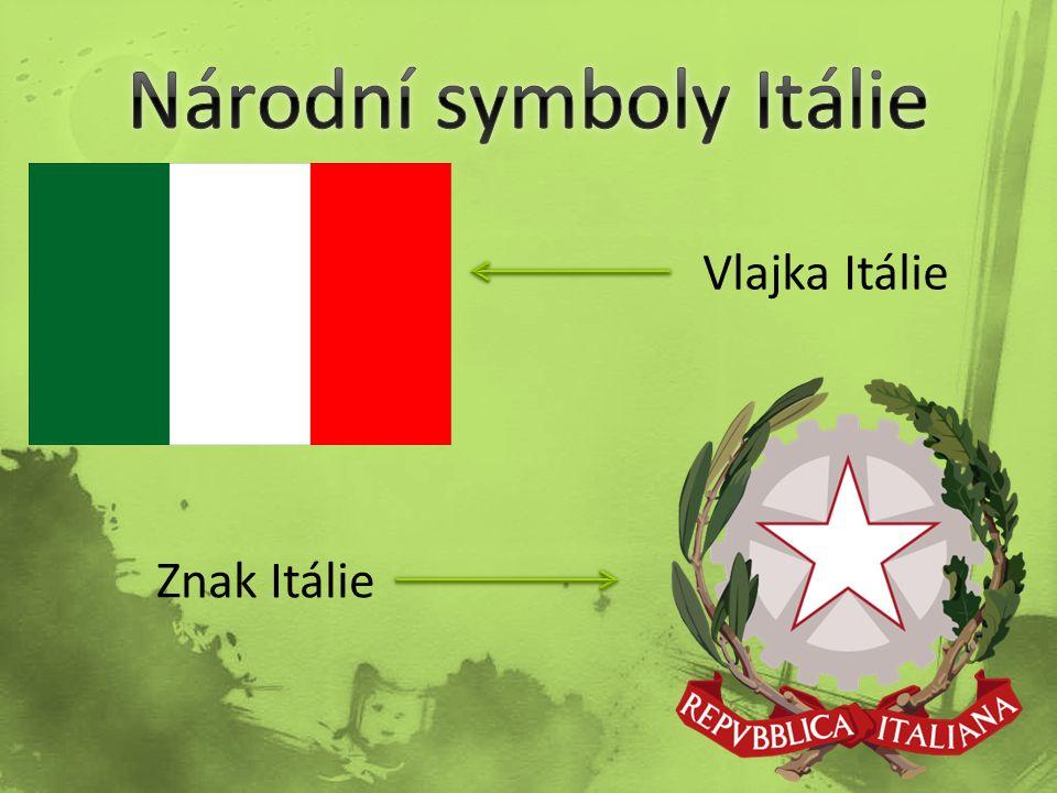 Vlajka Itálie Znak Itálie