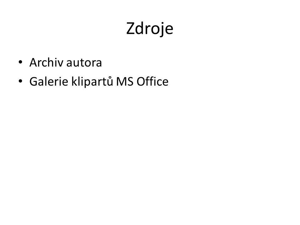 Zdroje Archiv autora Galerie klipartů MS Office
