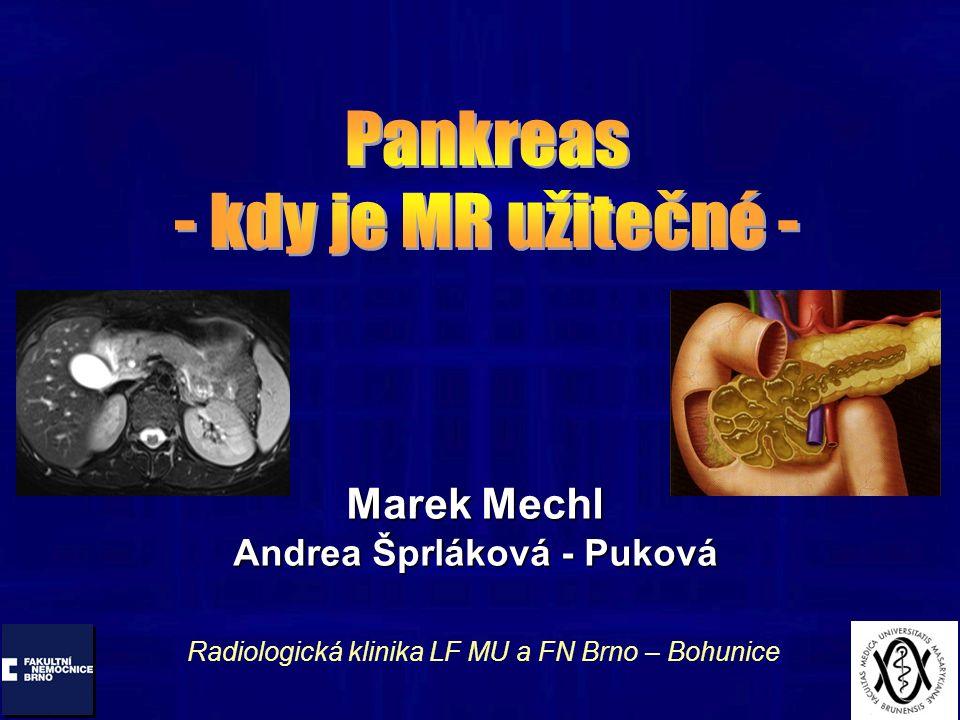 Marek Mechl Andrea Šprláková - Puková Radiologická klinika LF MU a FN Brno – Bohunice