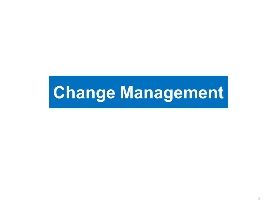 Change Management 3