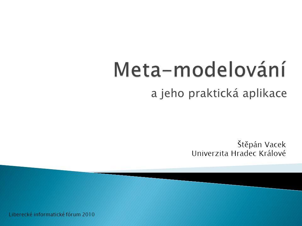 2/12 Osnova: Modelování (charakteristika, nevýhody) Meta-modelování (s MOF) Meta-model/UML profil Praktická aplikace (prostředí, motivace, příklad)