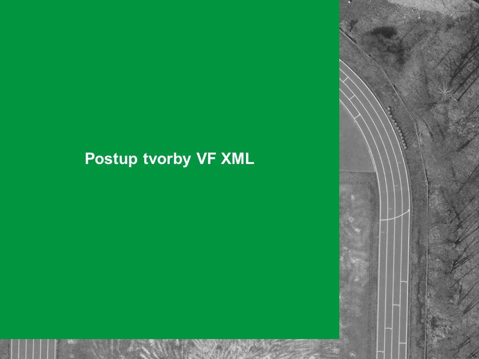 Postup tvorby VF XML