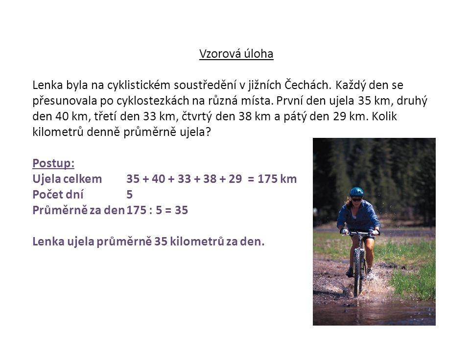Vzorová úloha Lenka byla na cyklistickém soustředění v jižních Čechách.