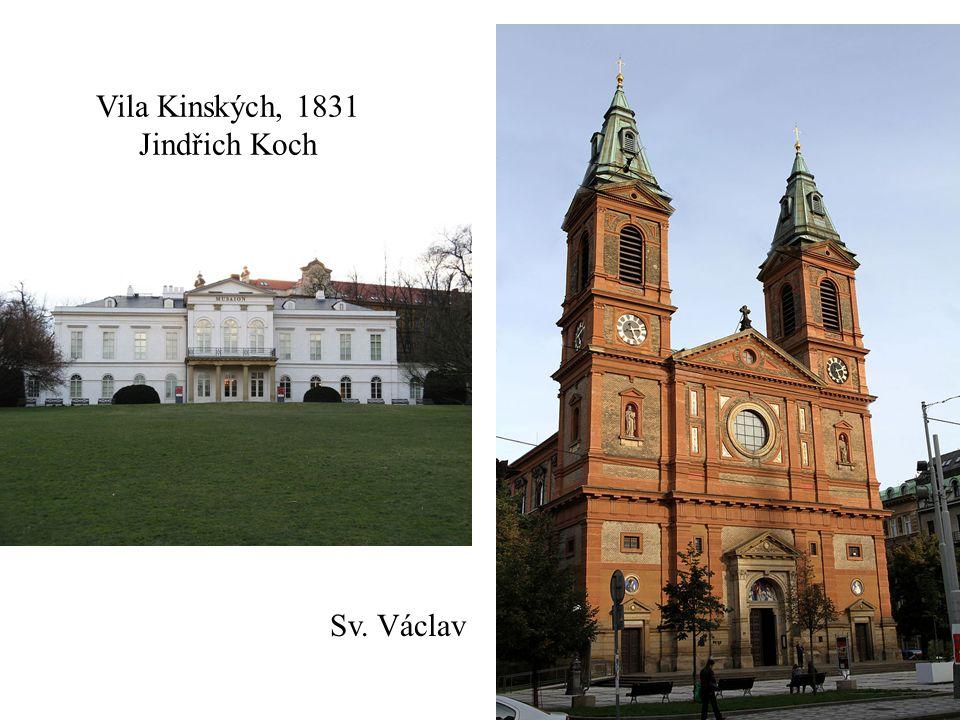 Vila Kinských, 1831 Jindřich Koch Sv. Václav
