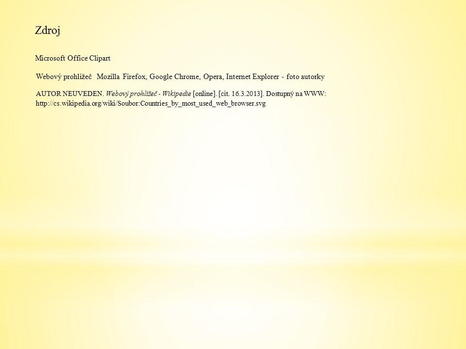 Zdroj AUTOR NEUVEDEN. Webový prohlížeč - Wikipedie [online].