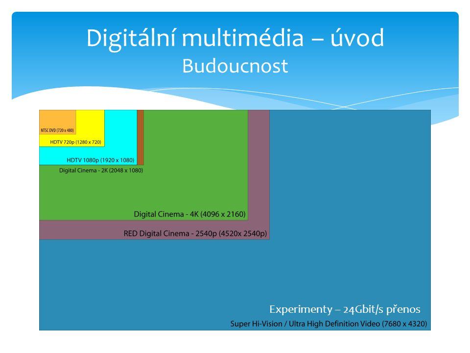 Digitální multimédia – úvod Budoucnost Experimenty – 24Gbit/s přenos