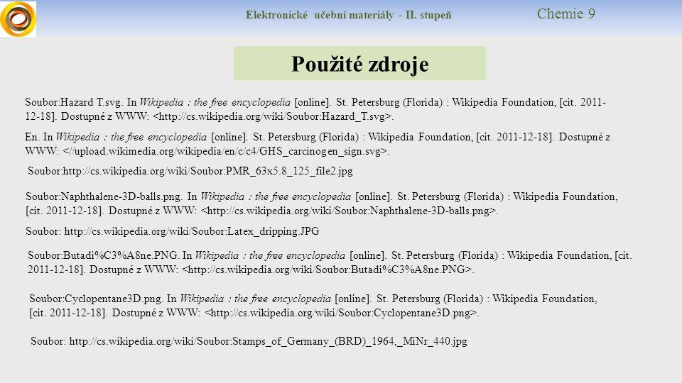 Elektronické učební materiály - II. stupeň Chemie 9 Použité zdroje Soubor:Hazard T.svg.