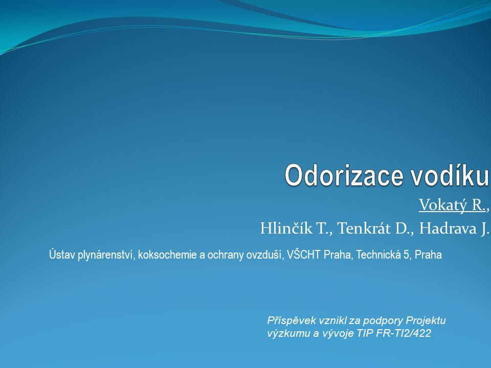 Struktura prezentace 1.Úvod do problematiky 2. Požadavky na odoranty 3.