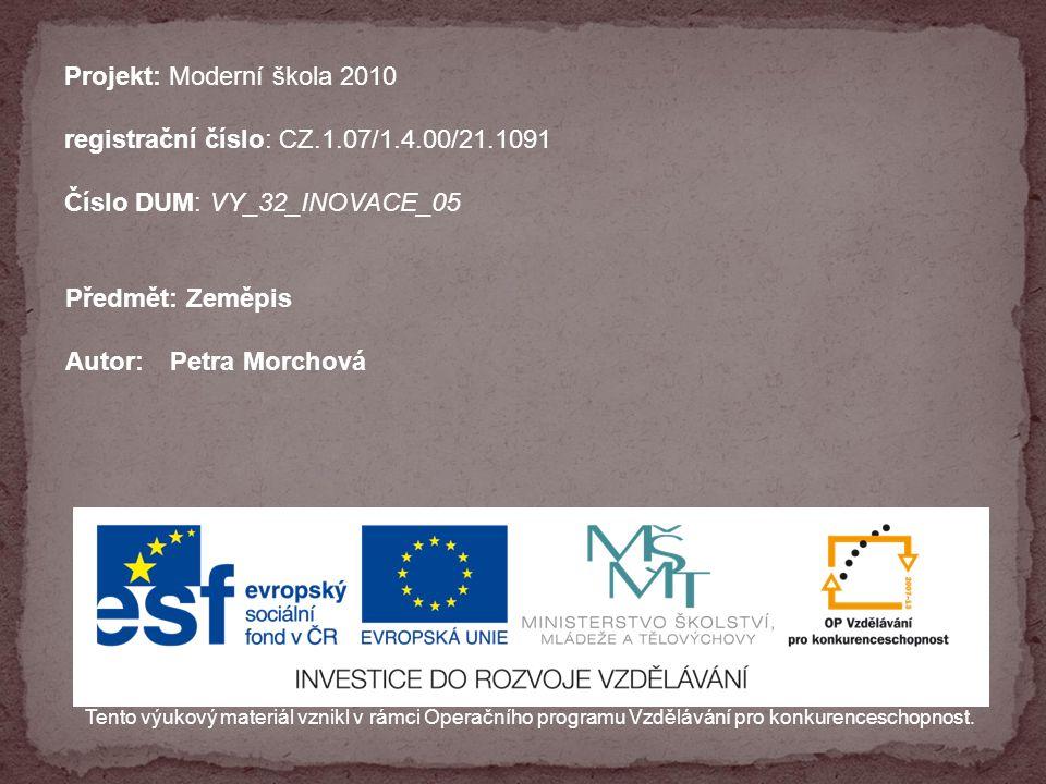 VY_32_INOVACE_05_statyjiznievropy Název: Z Státy jižní Evropy Anotace: program upevňuje orientaci na mapě, rozšiřuje základní přehled o přírodních podmínkách a životě lidí v jednotlivých státech jižní Evropy Datum vzniku: 22.