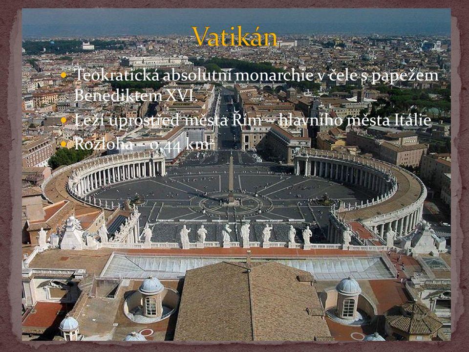Teokratická absolutní monarchie v čele s papežem Benediktem XVI.