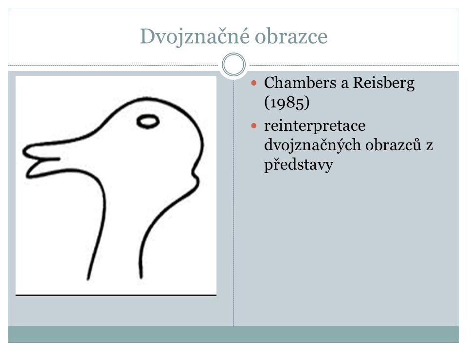 Dvojznačné obrazce Chambers a Reisberg (1985) reinterpretace dvojznačných obrazců z představy