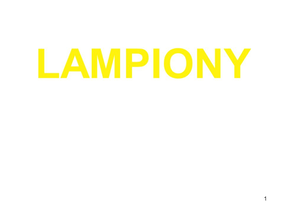1 LAMPIONY