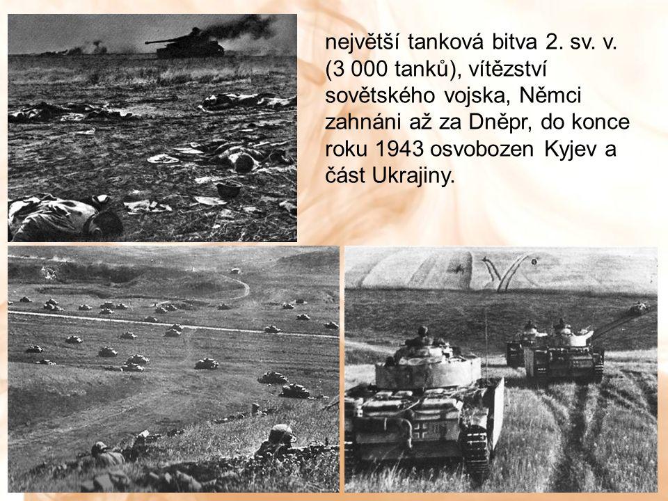 největší tanková bitva 2. sv. v.