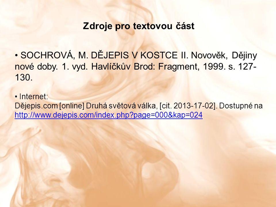 SOCHROVÁ, M. DĚJEPIS V KOSTCE II. Novověk, Dějiny nové doby.