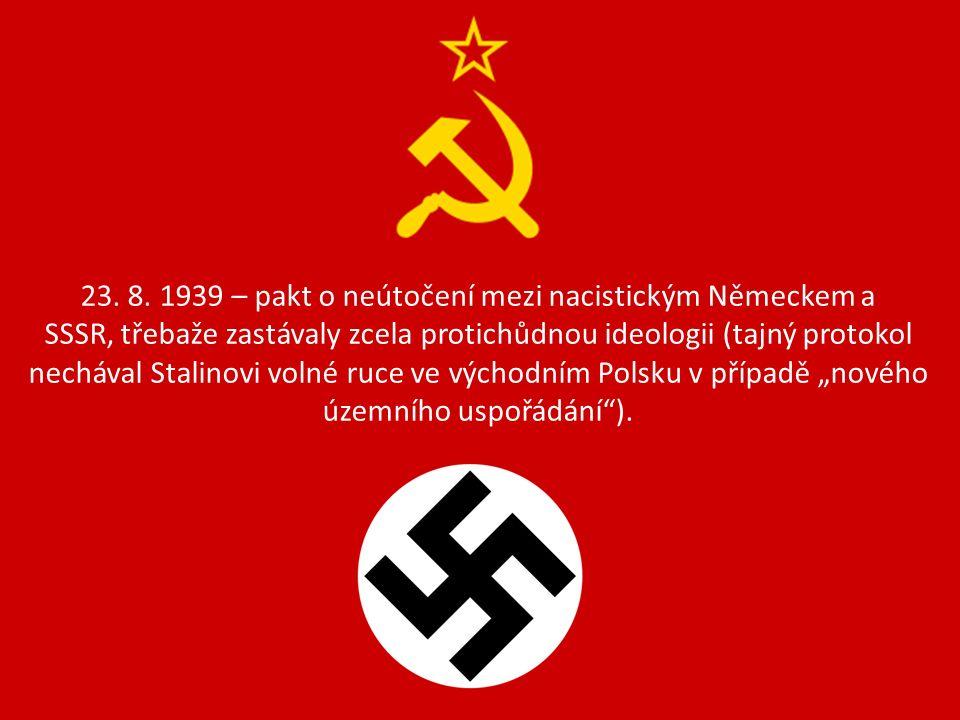 22.6. 1941 – přepadení SSSR bez vyhlášení války = plán Barbarossa.