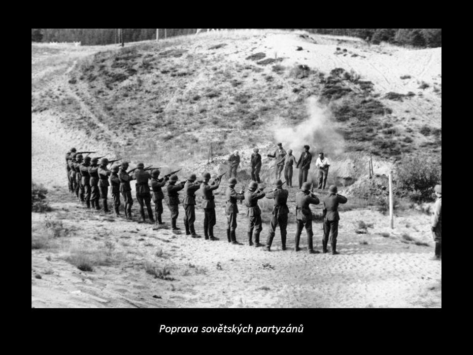"""Červenec – srpen 1943 – bitva u Kurska = poslední velká ofenziva Němců, boje u Kurského oblouku a u města Orel, německá taktika """"spálené země (ničení, oběti civilního obyvatelstva),"""