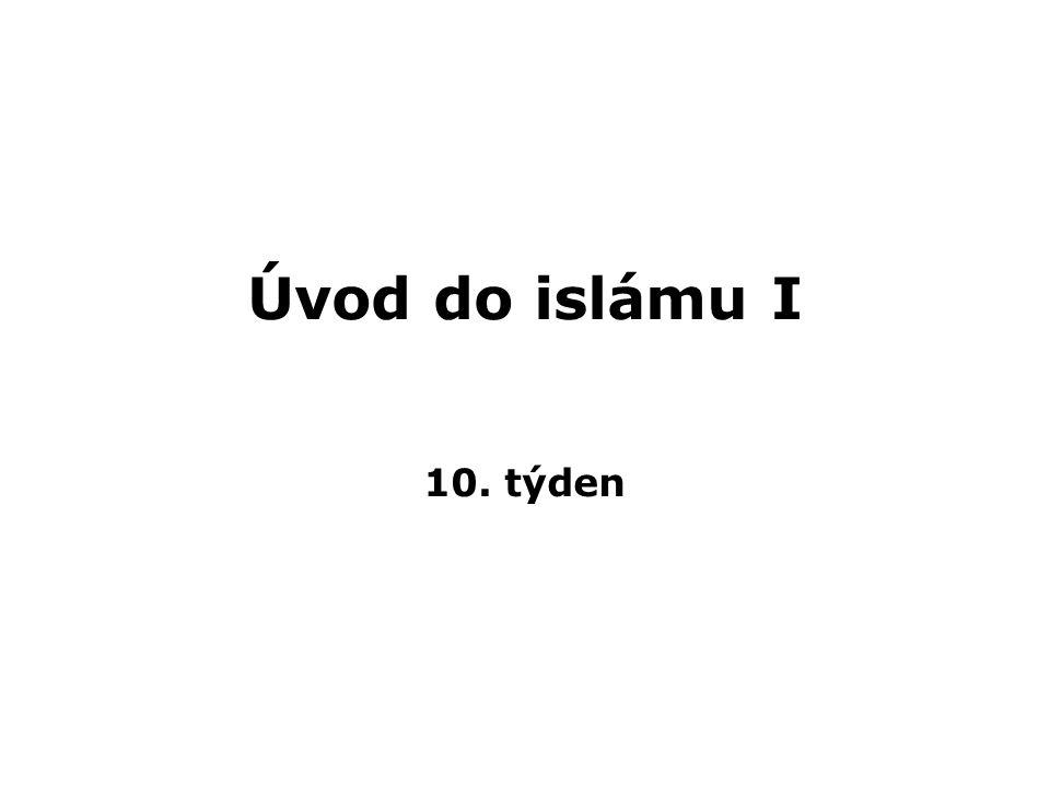 Sekty - islám jako neměnný monolit X historické a soudobá diverzita a geografické rozdíly > existuje tolik islámů, v kolik situacích se objevuje - 3 hlavní uskupení: sunna, ší a, súfismus - slavní díla od al-Baghdádího (z.