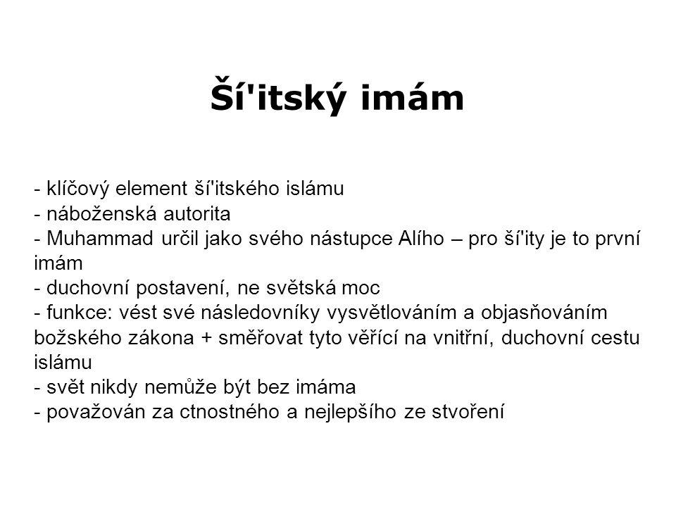 Ší itský imám - dvanáctníci (arabsky ithná ašaríja), případně generické pojmenování imámité - identifikují řetězec 12 imámů - jasné vymezení tohoto řetězce bylo učiněno ex post facto (v polovině 10.
