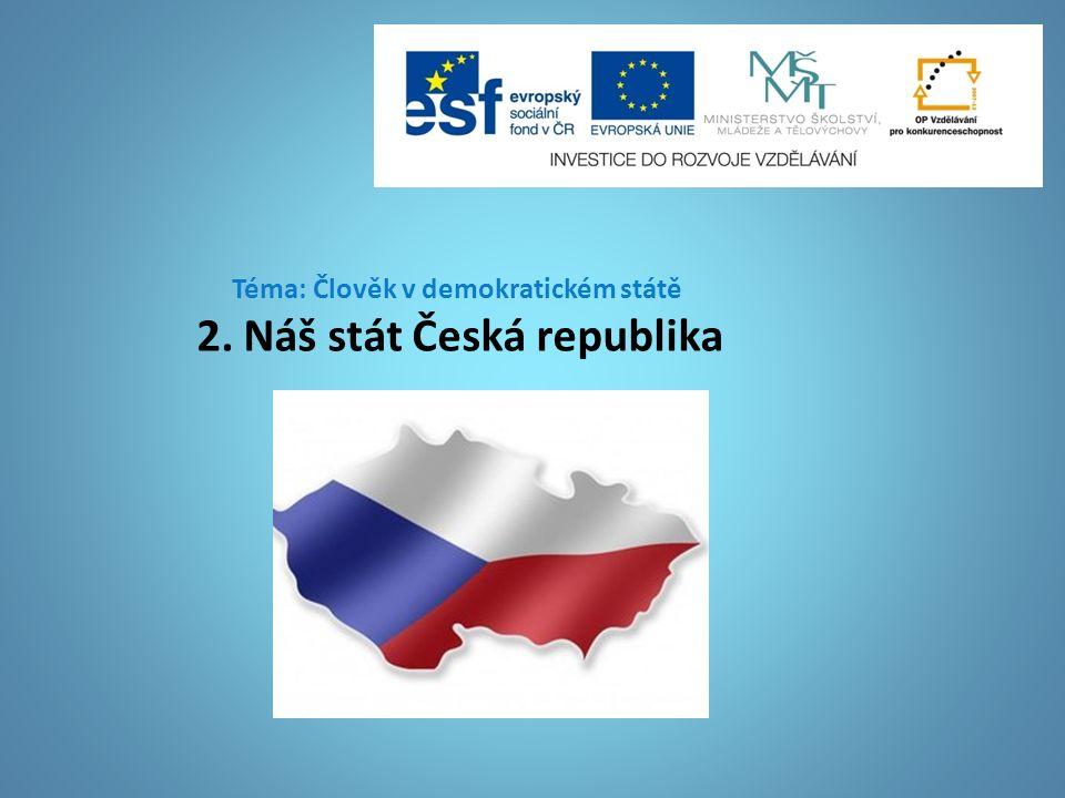 Téma: Člověk v demokratickém státě 2. Náš stát Česká republika