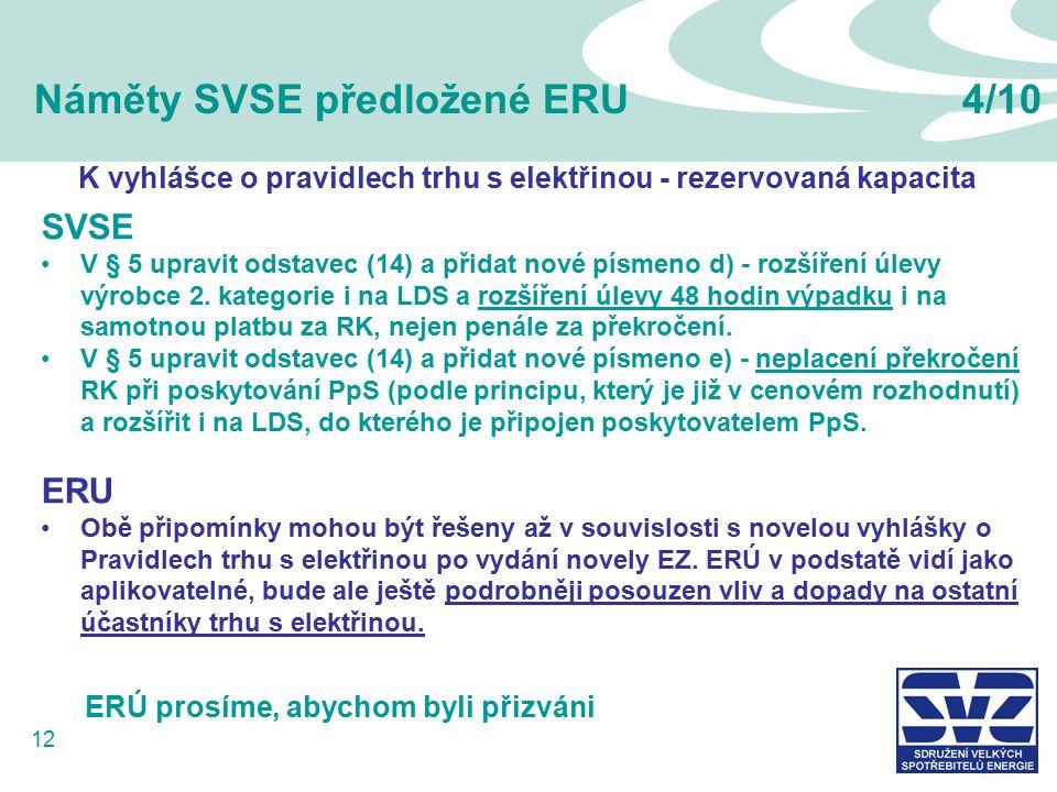 12 Náměty SVSE předložené ERU4/10 SVSE V § 5 upravit odstavec (14) a přidat nové písmeno d) - rozšíření úlevy výrobce 2.