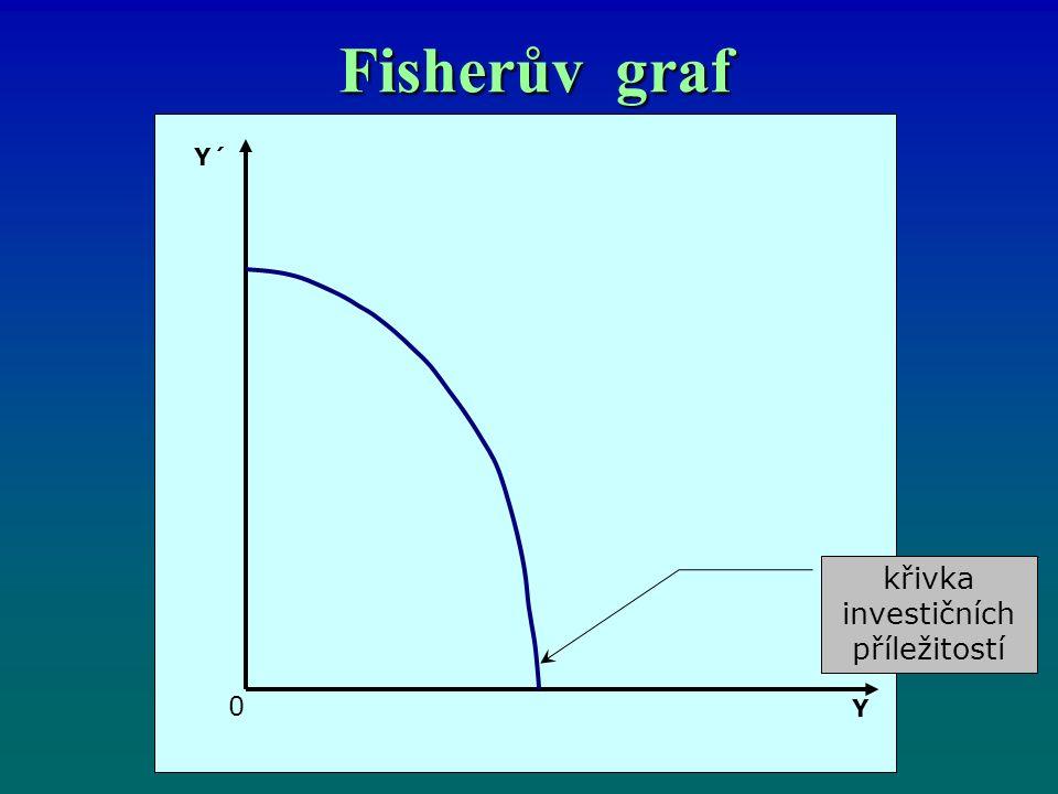 Fisherův graf křivka investičních příležitostí Y´ 0 Y