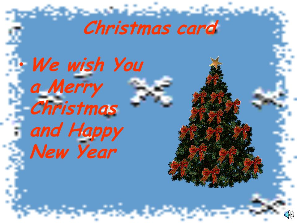 Christmas card We wish You a Merry Christmas and Happy New Year