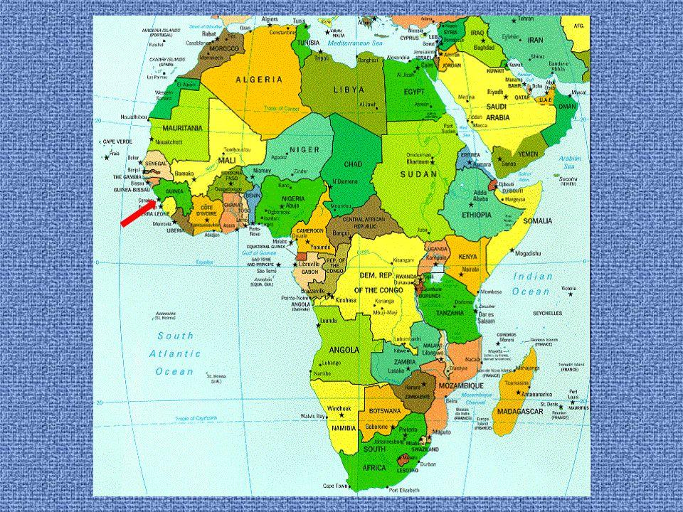 Guinea Hlavní město : Conakry Počet obyvatel: 9 500 000 Jazyk: francouzština