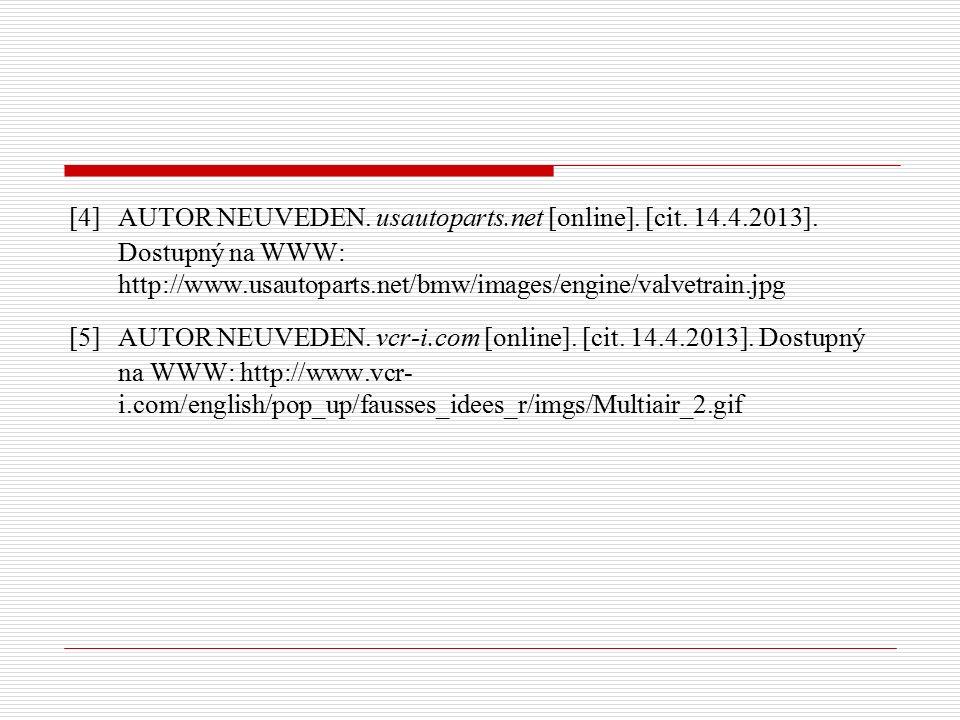 [4] AUTOR NEUVEDEN. usautoparts.net [online]. [cit.