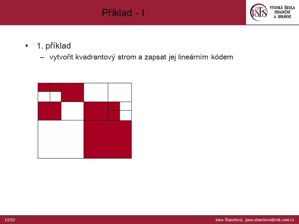 Příklad - I 12/52 Jana Štanclová, jana.stanclova@ruk.cuni.cz 1.
