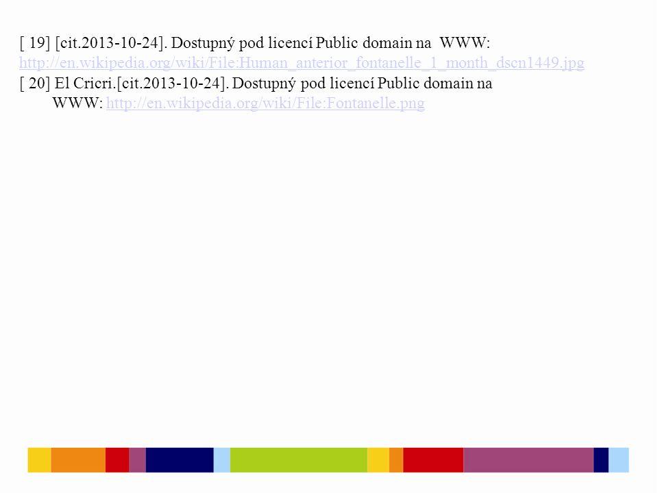 [ 19] [cit.2013-10-24]. Dostupný pod licencí Public domain na WWW: http://en.wikipedia.org/wiki/File:Human_anterior_fontanelle_1_month_dscn1449.jpg ht