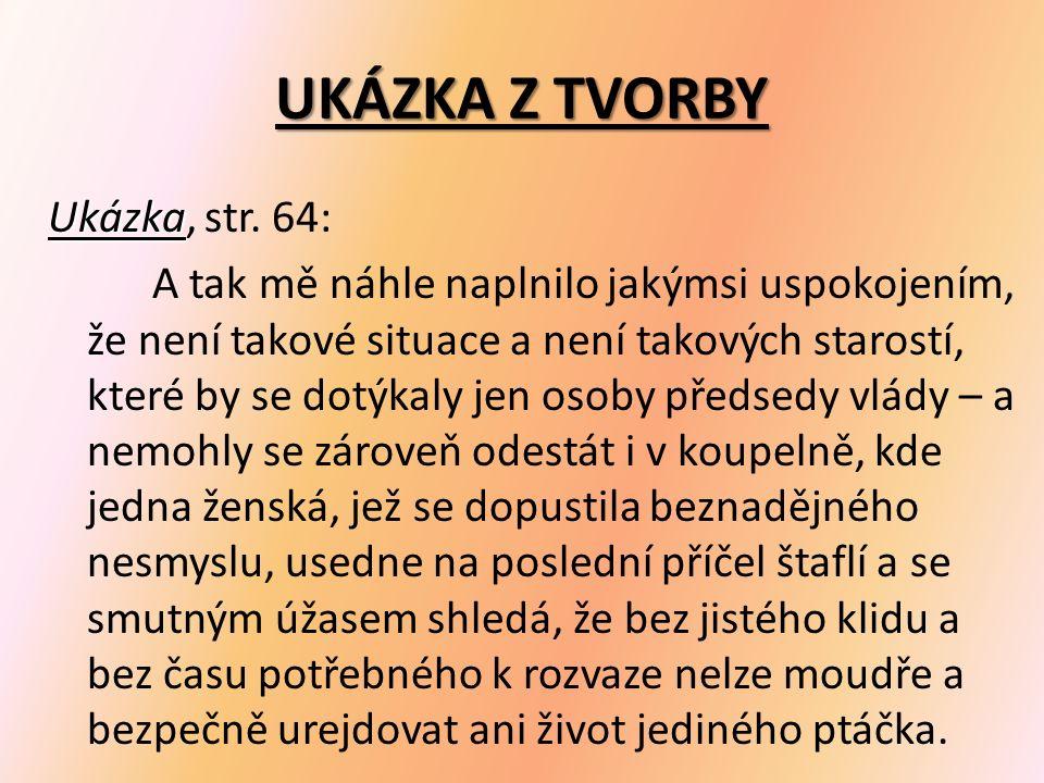 UKÁZKA Z TVORBY Ukázka Ukázka, str.