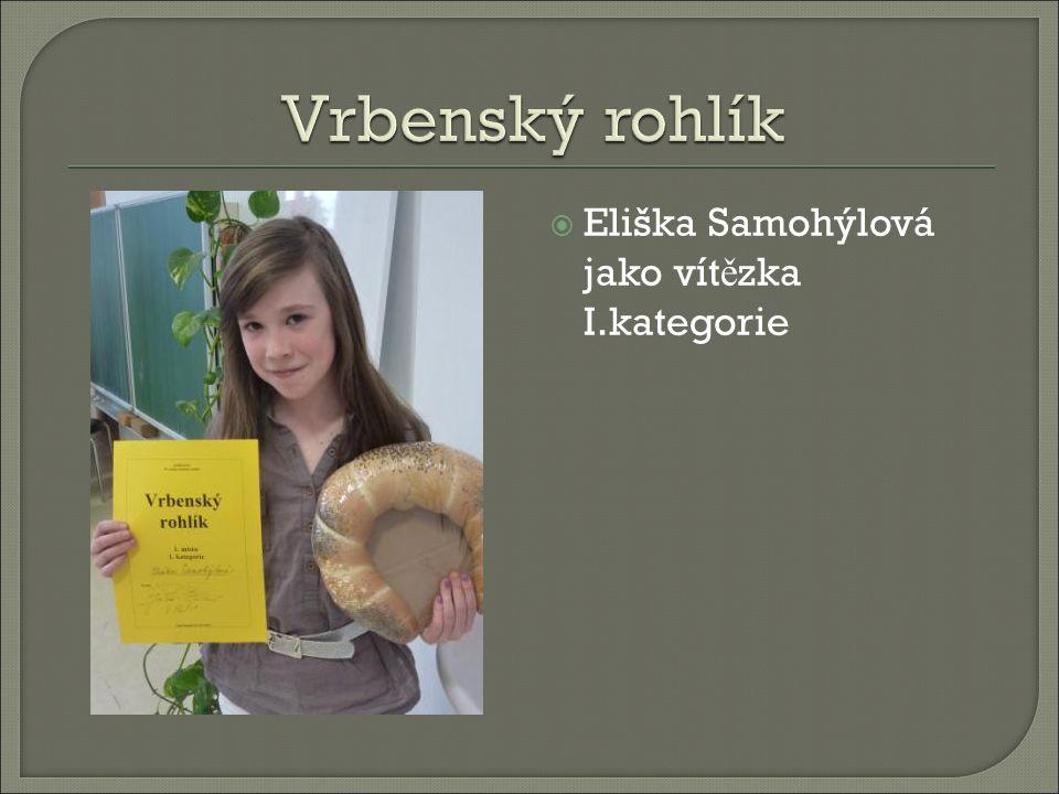  Eliška Samohýlová jako vítězka I.kategorie