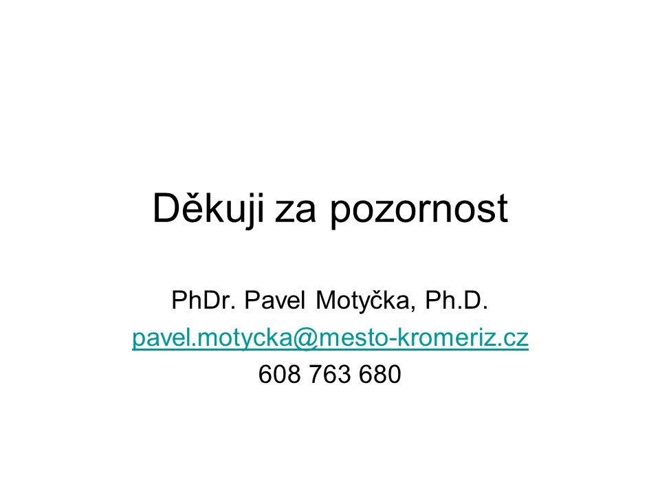 Děkuji za pozornost PhDr. Pavel Motyčka, Ph.D. pavel.motycka@mesto-kromeriz.cz 608 763 680