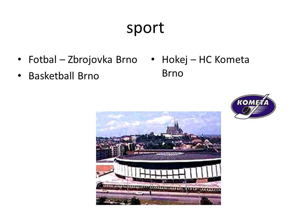 sport Fotbal – Zbrojovka Brno Basketball Brno Hokej – HC Kometa Brno