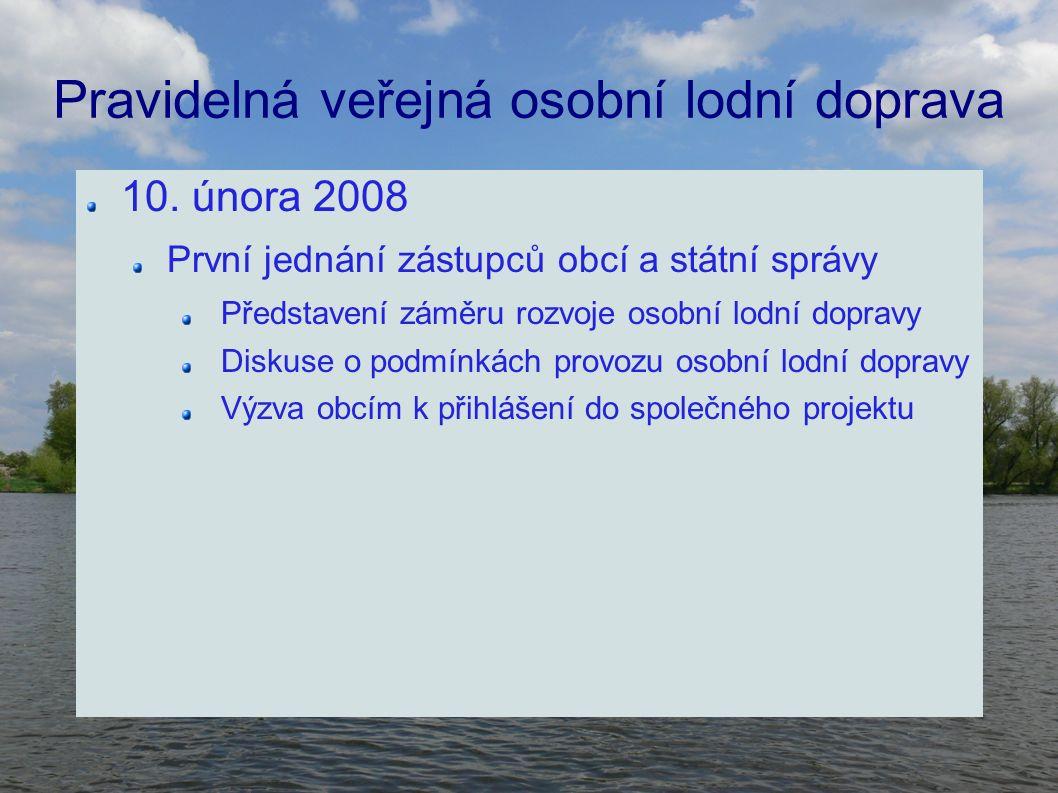 Pravidelná veřejná osobní lodní doprava 10.