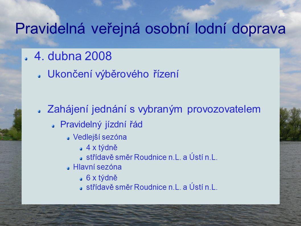Pravidelná veřejná osobní lodní doprava 4.