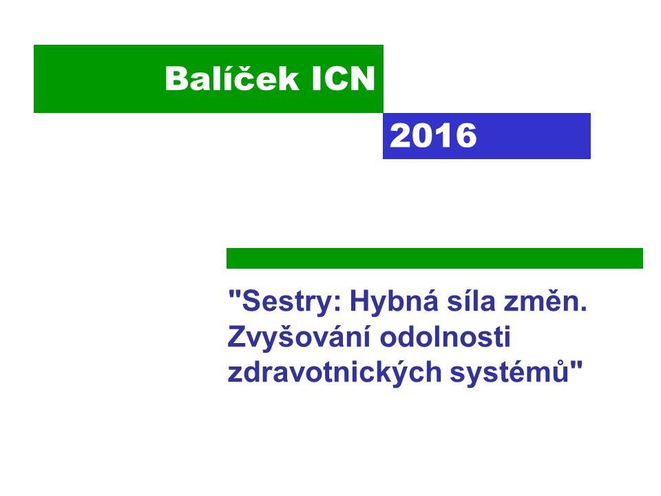 Balíček ICN Sestry: Hybná síla změn. Zvyšování odolnosti zdravotnických systémů 2016