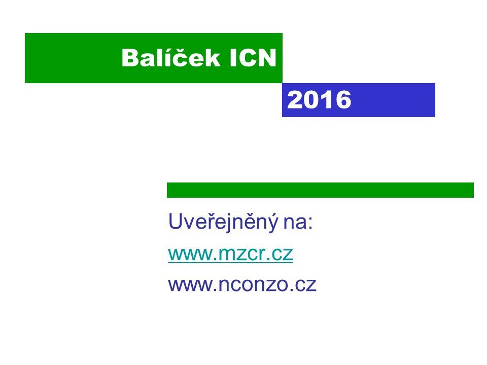 Balíček ICN Uveřejněný na: www.mzcr.cz www.nconzo.cz 2016