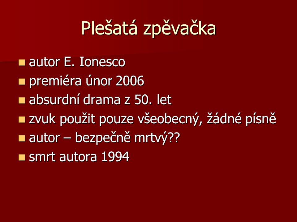 Plešatá zpěvačka autor E. Ionesco autor E.