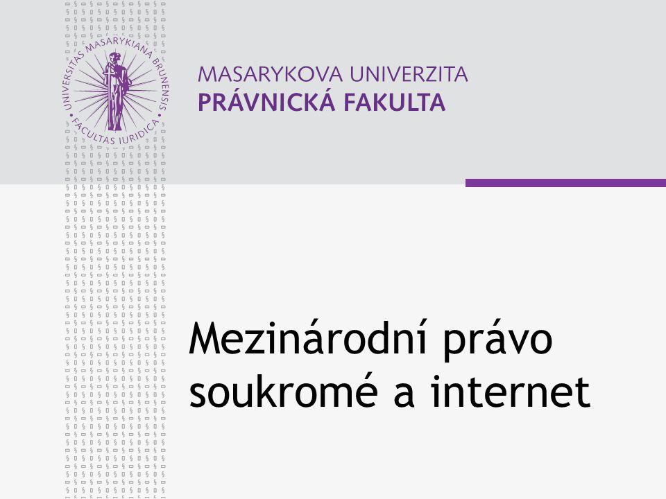 Mezinárodní právo soukromé a internet