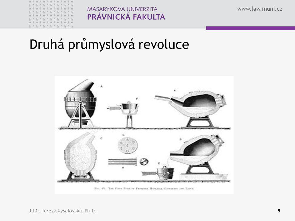 www.law.muni.cz Druhá průmyslová revoluce JUDr. Tereza Kyselovská, Ph.D.5