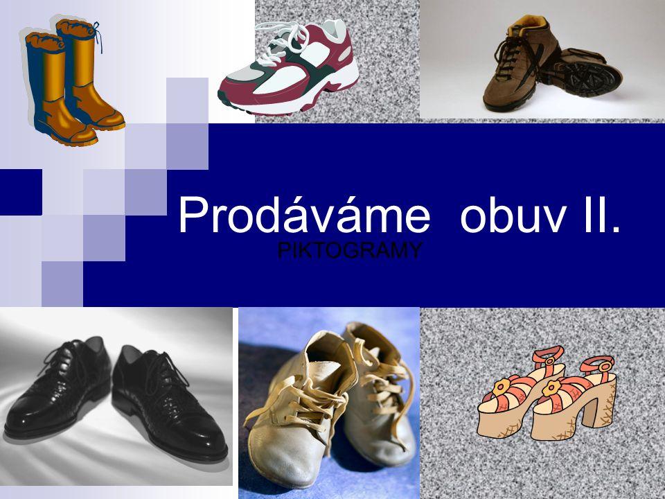 Prodáváme obuv II. PIKTOGRAMY