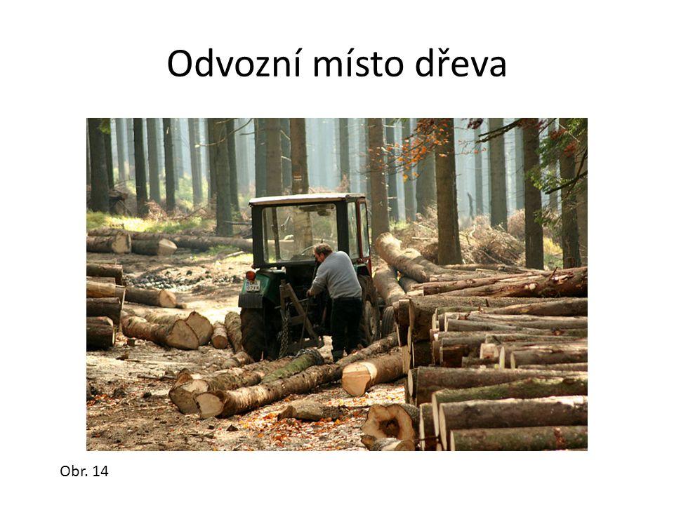 Odvozní místo dřeva Obr. 14