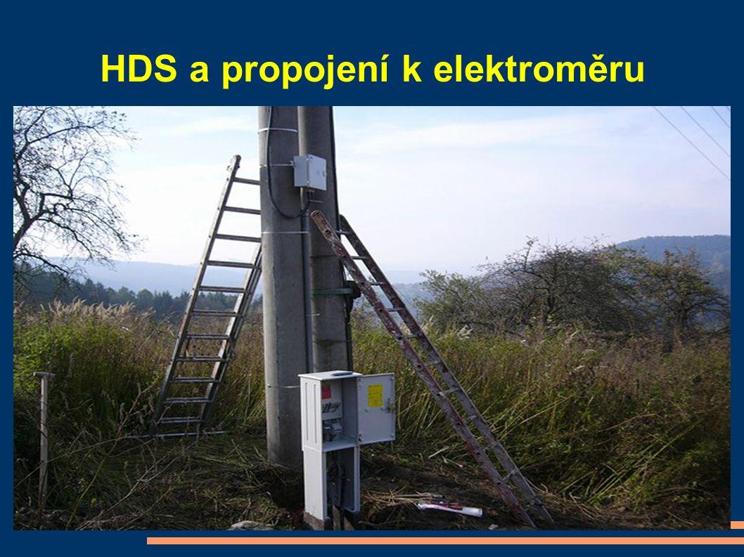 HDS a propojení k elektroměru