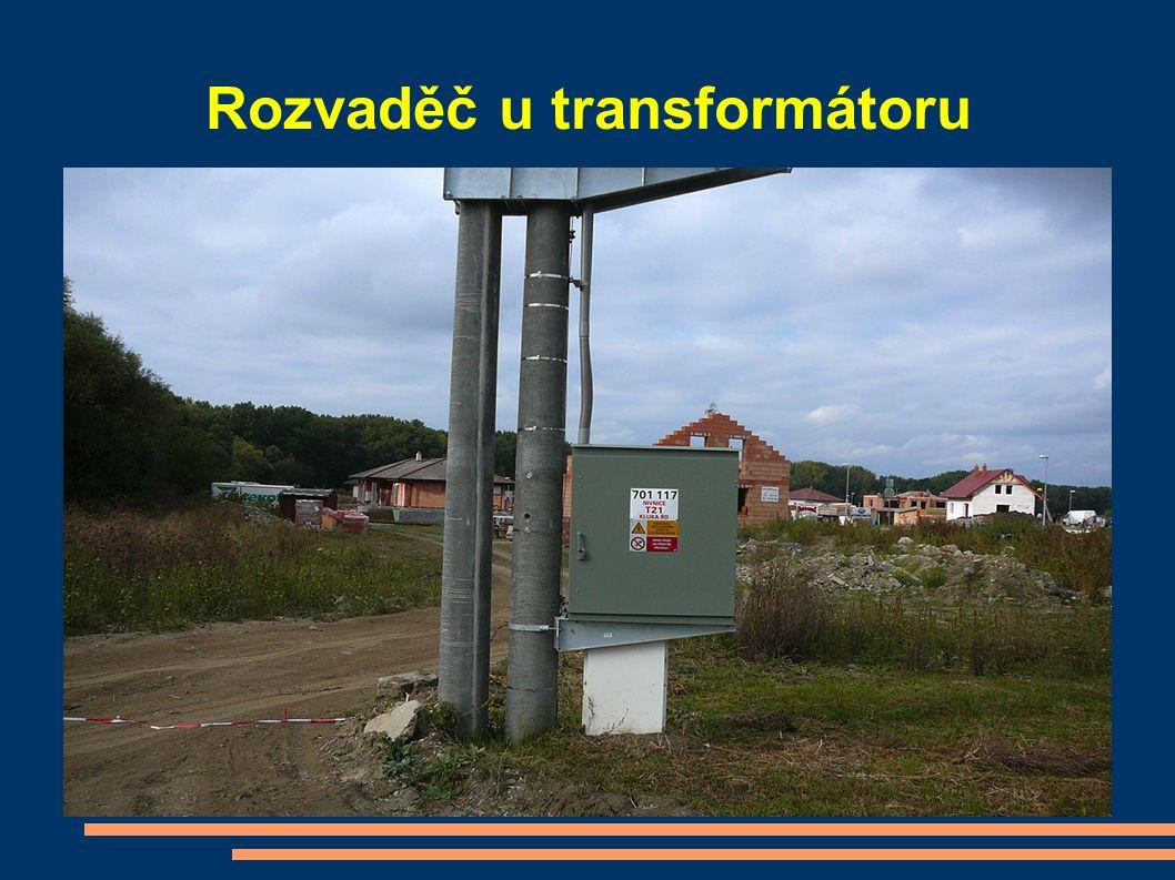Rozvaděč u transformátoru