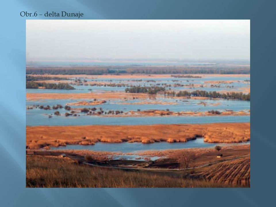 Obr.6 – delta Dunaje