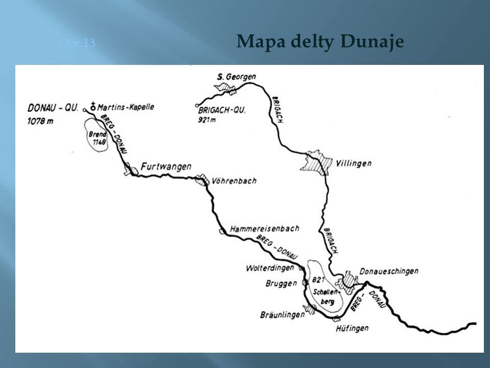 Obr.13 Mapa delty Dunaje